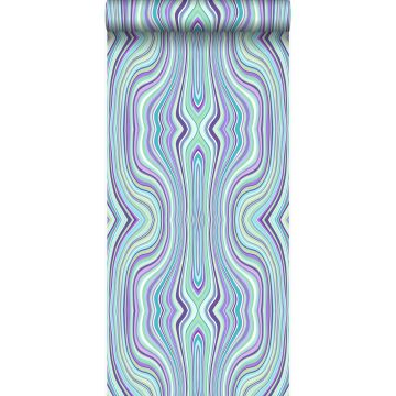 wallpaper graphic lines turquoise and purple from Origin
