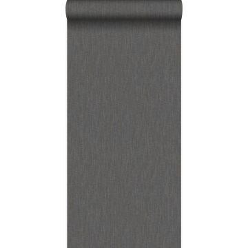wallpaper linen dark brown from Origin