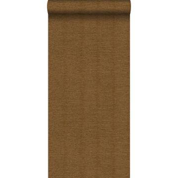 wallpaper linen texture rust brown from Origin