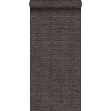 wallpaper linen texture dark taupe from Origin