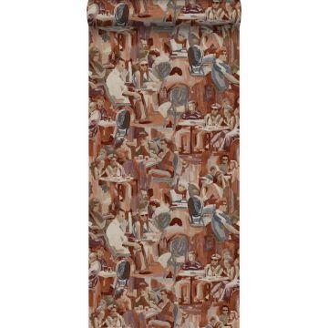 wallpaper figurative design rust brown from Origin