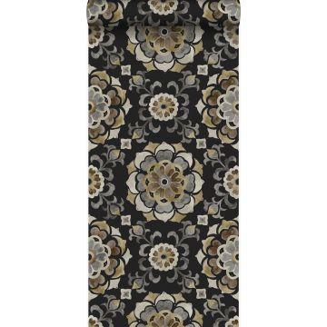 wallpaper suzani flowers black from Origin
