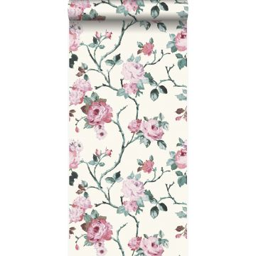wallpaper flowers white and light pink from Origin