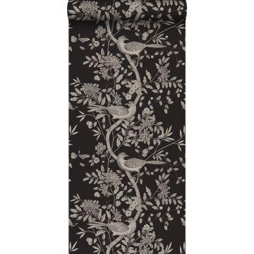 wallpaper bird engraving black from Origin