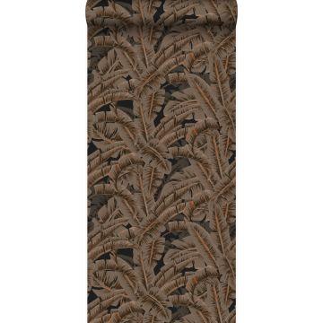wallpaper palm leafs rust brown from Origin