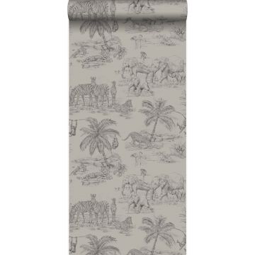 wallpaper jungle clay grey from Origin