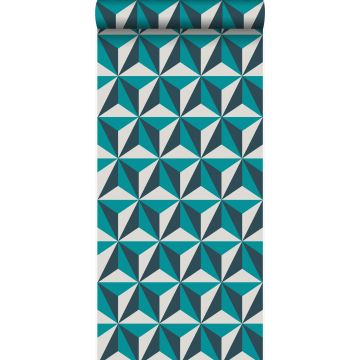 wallpaper graphic 3D turquoise from Origin