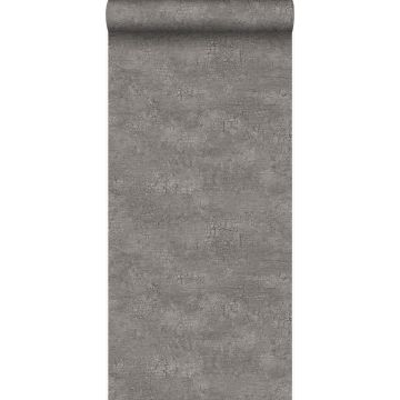 wallpaper natural stone with craquelé effect taupe from Origin