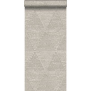 wallpaper weathered metal triangles warm silver from Origin