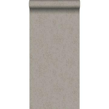 wallpaper metal effect taupe from Origin