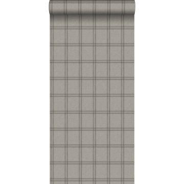 eco texture non-woven wallpaper rhombus motif light brown from Origin