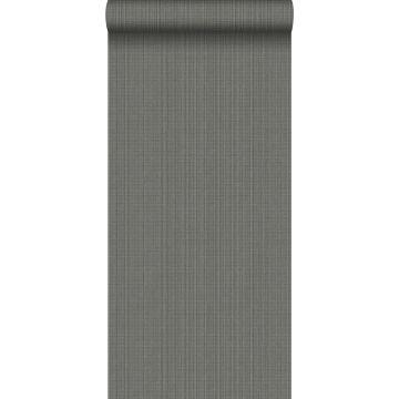 wallpaper woven fabric effect slate gray from Origin