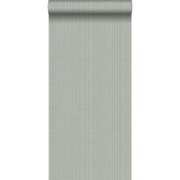 wallpaper woven fabric effect gray from Origin
