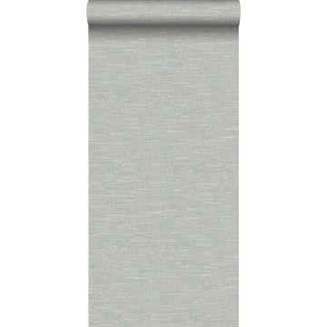 wallpaper linen texture blue grey from Origin