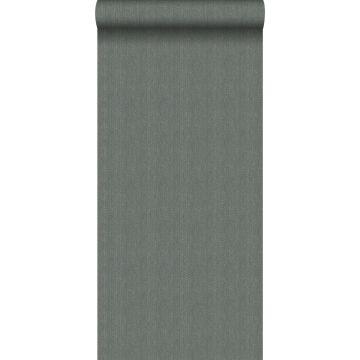 wallpaper twill weave green grey from Origin