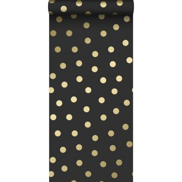 wallpaper dots black and gold from Origin
