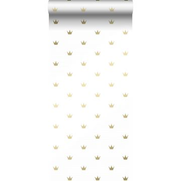 wallpaper little crowns white and gold from Origin