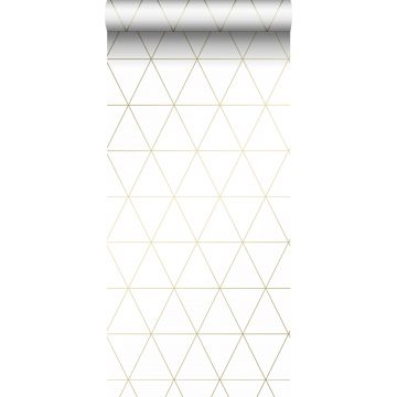 wallpaper graphical triangles white and gold from Origin