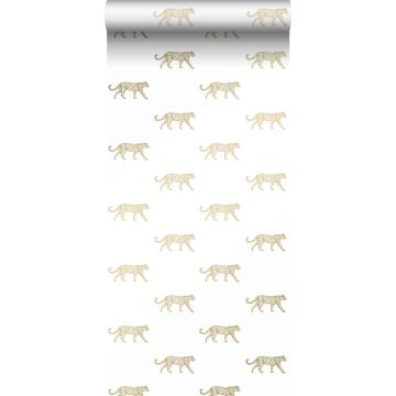 wallpaper panters white and gold from Origin