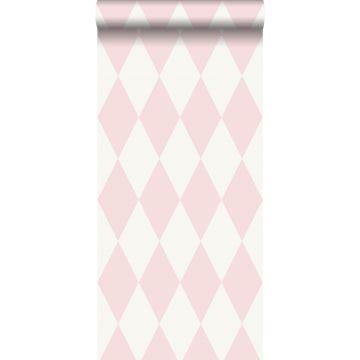 wallpaper rhombus motif shiny pink from Origin