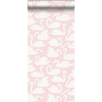 wallpaper swans pink and white from Origin