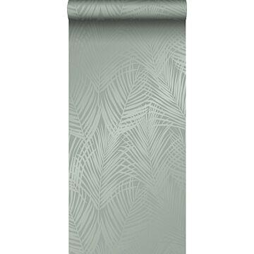 wallpaper palm leaves grayish green from Origin