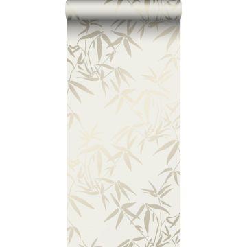 wallpaper bamboo leaves beige from Origin
