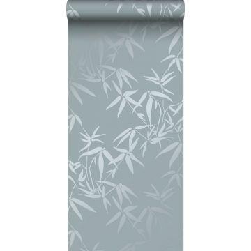 wallpaper bamboo leaves blue from Origin