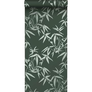 wallpaper bamboo leaves dark green from Origin