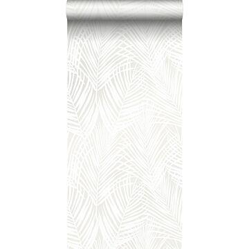 wallpaper palm leaves white from Origin