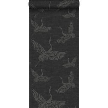 wallpaper crane birds dark gray from Origin