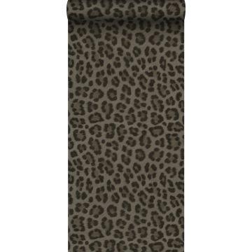 wallpaper leopard skin taupe from Origin