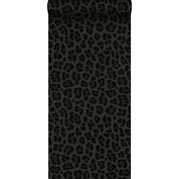 wallpaper leopard skin dark gray and black from Origin