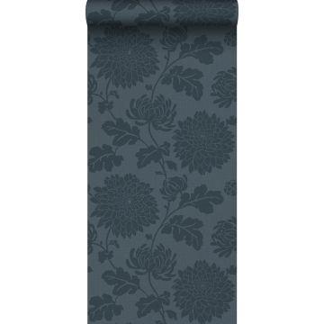 wallpaper flowers dark blue from Origin
