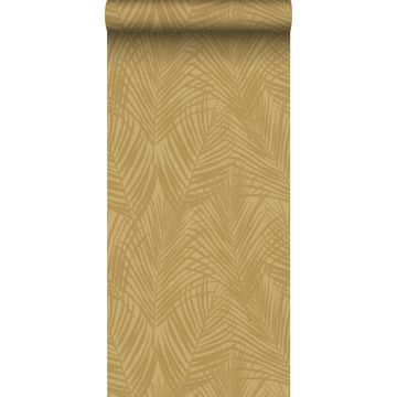 wallpaper palm leafs mustard from Origin