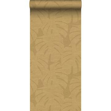wallpaper tropical leaves mustard from Origin
