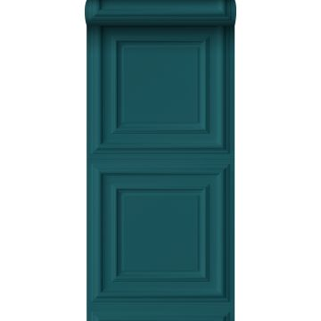 wallpaper wall panelling teal from Origin