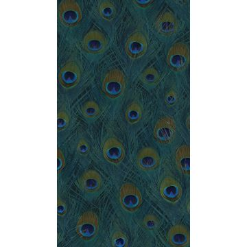 wall mural peacock feathers sea green from Origin