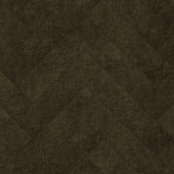 self-adhesive eco-leather tiles herring bone pattern dark brown from Origin
