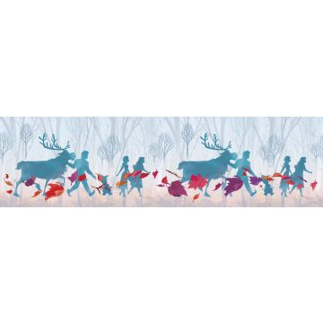 self-adhesive wallpaper border Frozen light blue, purple and red from Sanders & Sanders