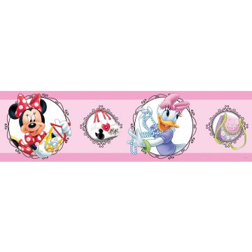 self-adhesive wallpaper border Minnie Mouse & Daisy Duck pink from Sanders & Sanders