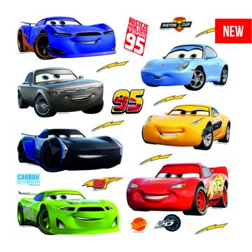 wall sticker Cars blue, red, yellow and green from Sanders & Sanders