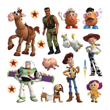 wall sticker Toy Story beige, green and yellow from Sanders & Sanders