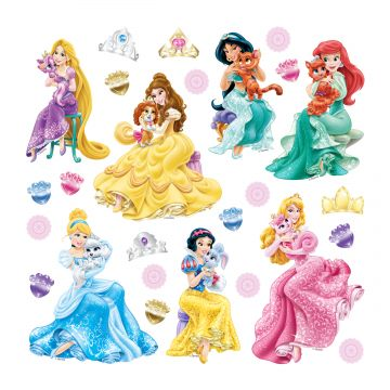 wall sticker princesses green, pink and yellow from Sanders & Sanders