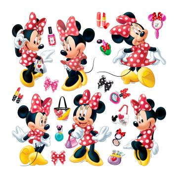 wall sticker Minnie Mouse red and yellow from Sanders & Sanders