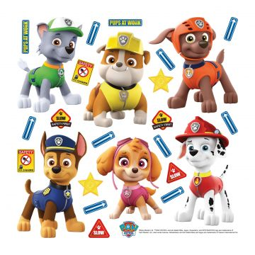 wall sticker PAW patrol blue, yellow and orange from Sanders & Sanders