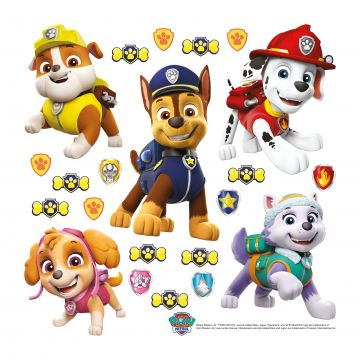 wall sticker PAW patrol yellow, blue and red from Sanders & Sanders