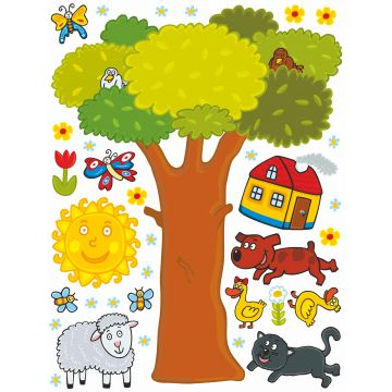 wall sticker farm animals green, yellow and brown from Sanders & Sanders