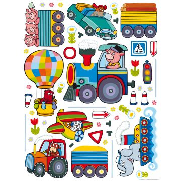 wall sticker farm animals blue, green and yellow from Sanders & Sanders