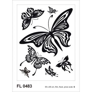 wall sticker butterflies black from Sanders & Sanders